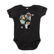 Collie Trio dark Baby Bodysuit