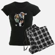 Collie Trio dark Pajamas
