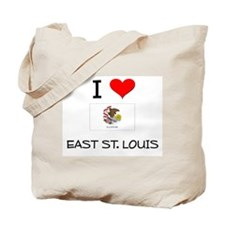 I Love EAST ST. LOUIS Illinois Tote Bag