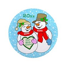 """Our Nth Christmas 3.5"""" Button (100 pack)"""