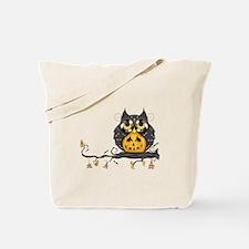 Jack-O-Lantern Hooty Tote Bag