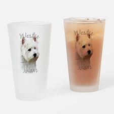 Westie Mom Drinking Glass