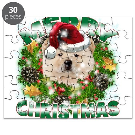 MerryChristmas Chow Chow Puzzle