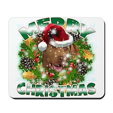 MerryChristmas Chesapeake Bay Retriever Mousepad