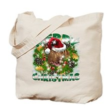MerryChristmas Chesapeake Bay Retriever Tote Bag
