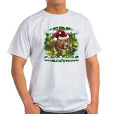 MerryChristmas Chesapeake Bay Retriever T-Shirt