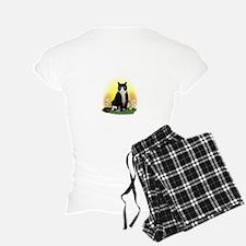Tuxedo Cat in the Garden Pajamas