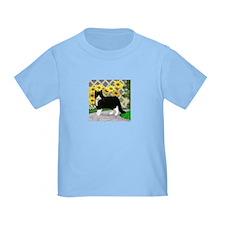 Tuxedo Cat in the Garden T