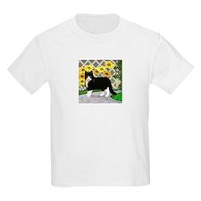 Tuxedo Cat in the Garden T-Shirt