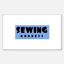 Sewing Goddess Rectangle Decal