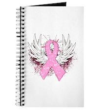 Winged Pink Ribbon Journal