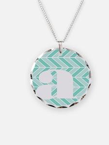 Chevron Necklace Circle Charm