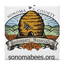 sonomabees.org Tile Coaster