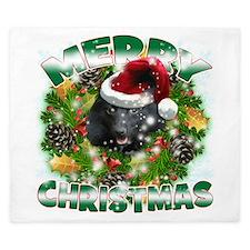 MerryChristmas Schipperke King Duvet