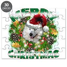 MerryChristmas Samoyed Puzzle
