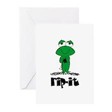 Rip It - Yarn Frog Greeting Cards (Pk of 10)
