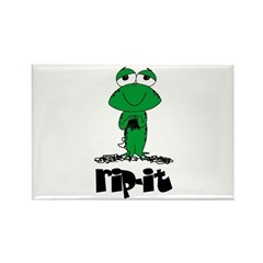 Rip It - Yarn Frog Rectangle Magnet