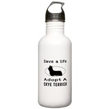 Adopt A Skye Terrier Dog Sports Water Bottle