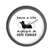 Adopt A Skye Terrier Dog Wall Clock