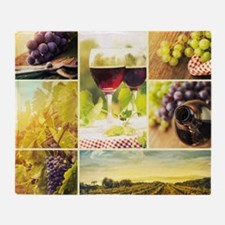 Vineyard Collage Throw Blanket