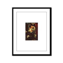 Necking Knitter Framed Panel Print