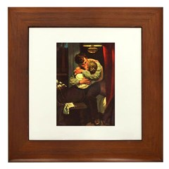 Necking Knitter Framed Tile