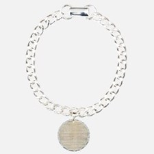 US Constitution  Charm Bracelet, One Charm