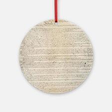 US Constitution  Round Ornament