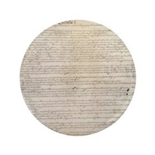 "US Constitution  3.5"" Button"