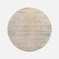 "US Constitution  3.5"" Button"