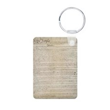 US Constitution  Aluminum Photo Keychain