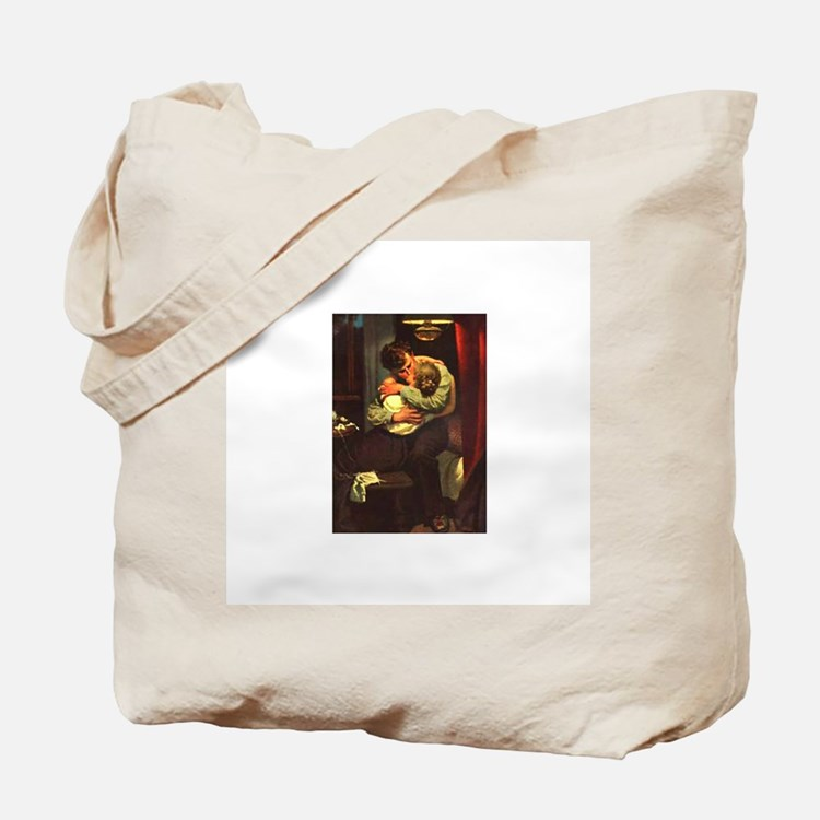 Necking Knitter Tote Bag