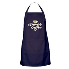 Powered By Coffee Apron (dark)