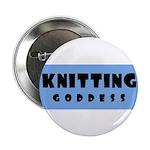 Knitting Goddess Button