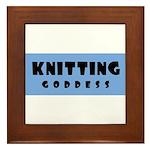 Knitting Goddess Framed Tile