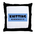 Knitting Goddess Throw Pillow