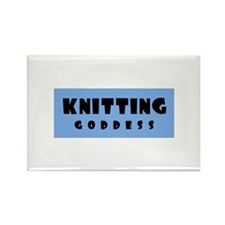 Knitting Goddess Rectangle Magnet
