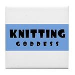 Knitting Goddess Tile Coaster