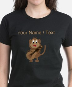 Custom Monkey Playing Guitar T-Shirt
