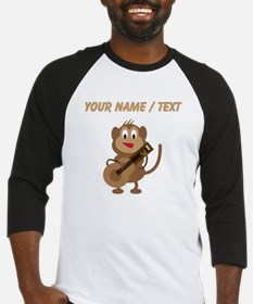 Custom Monkey Playing Guitar Baseball Jersey
