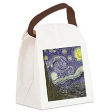 Starry Night Canvas Lunch Bag