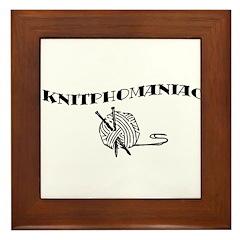 Knitphomaniac Framed Tile