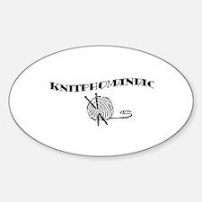 Knitphomaniac Oval Decal