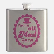 Were all MAD here! with top hat and cameo Flask
