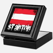 St. Anton Grunge Flag Keepsake Box