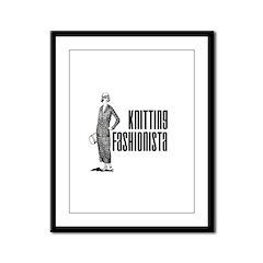 Knitting Fashionista Framed Panel Print