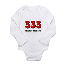 333 Half Evil Long Sleeve Infant Bodysuit