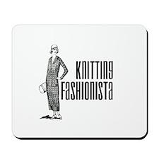 Knitting Fashionista Mousepad