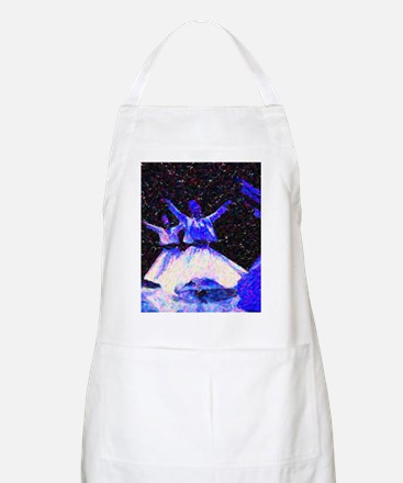 Whirling Dervishes in blue dots Apron