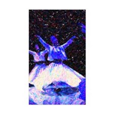 Whirling Dervishes in blue dot Decal